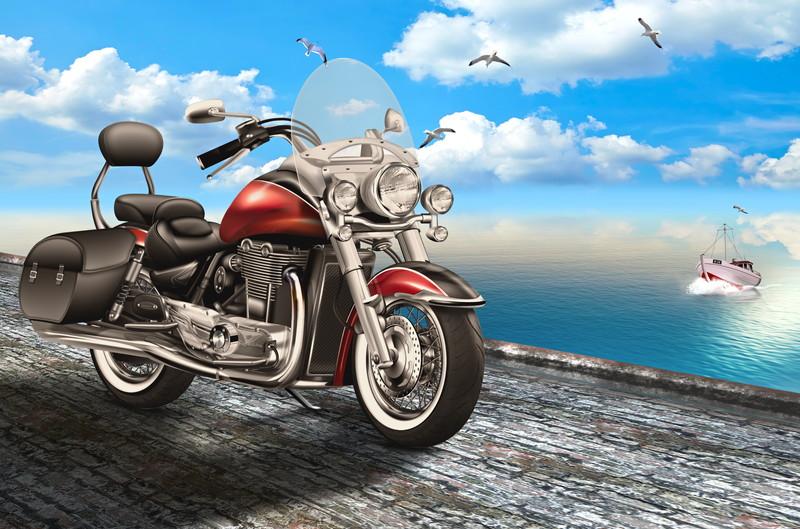 バイクと船
