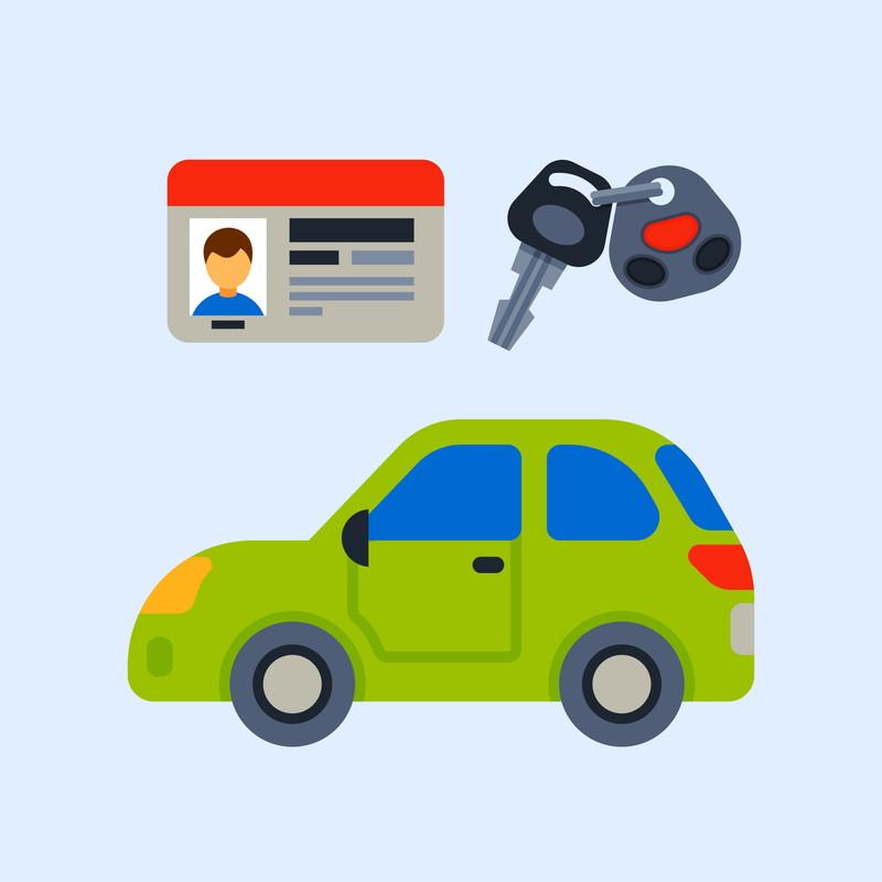 車と免許と鍵と